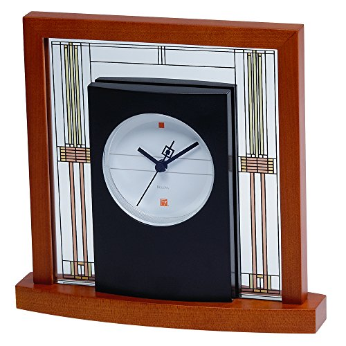 Bulova Willits Frank Lloyd Wright Table Clock, Light Cherry Finish B7756