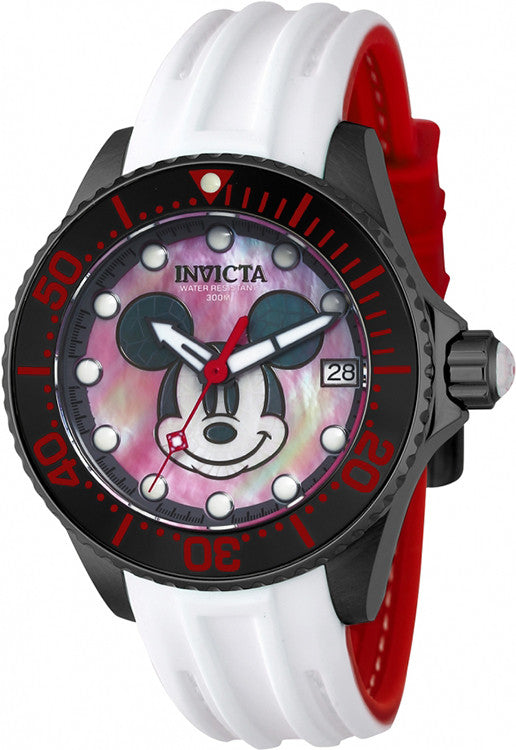 Red Black And White Dial Disney Watch