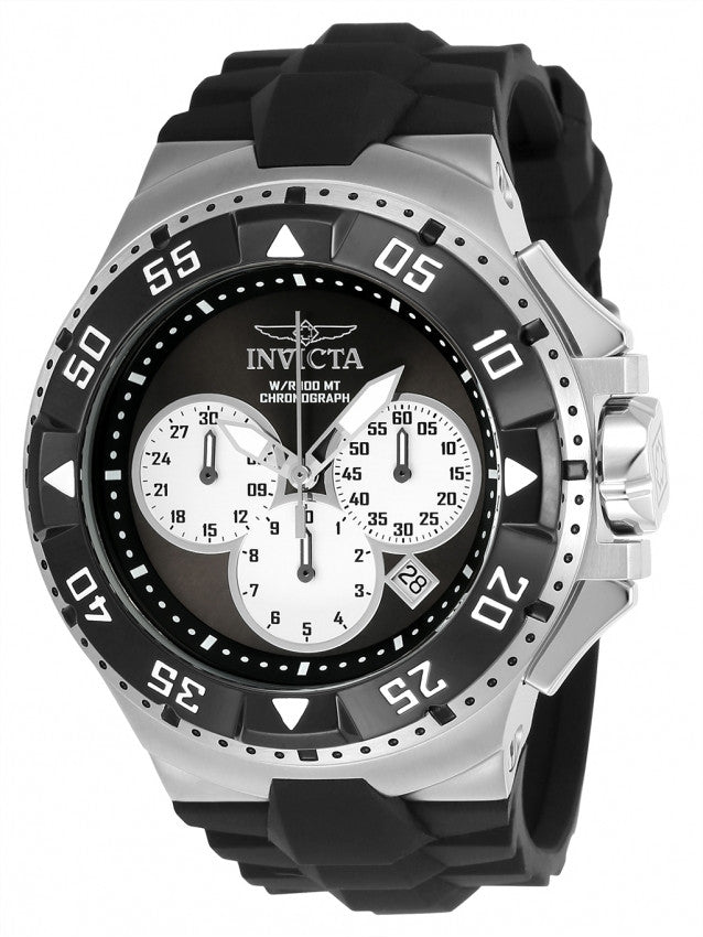 Invicta Men's Excursion Quartz Chronograph Black, Silver Dial Watch 23045