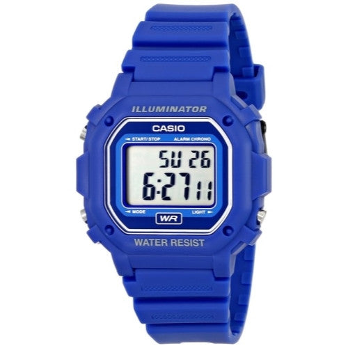 CASIO WATCH 30m Water Resistance Digital Watch with Blue Resin Strap