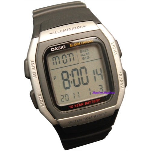 CASIO ALARM CHRONOGRAPH DIGITAL SPORT WATCH W96H-1AV