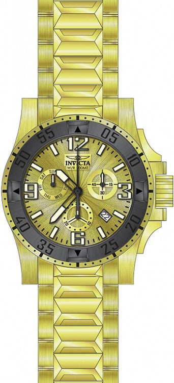 Invicta Men's Excursion Quartz Chronograph Gold Dial Watch 23904