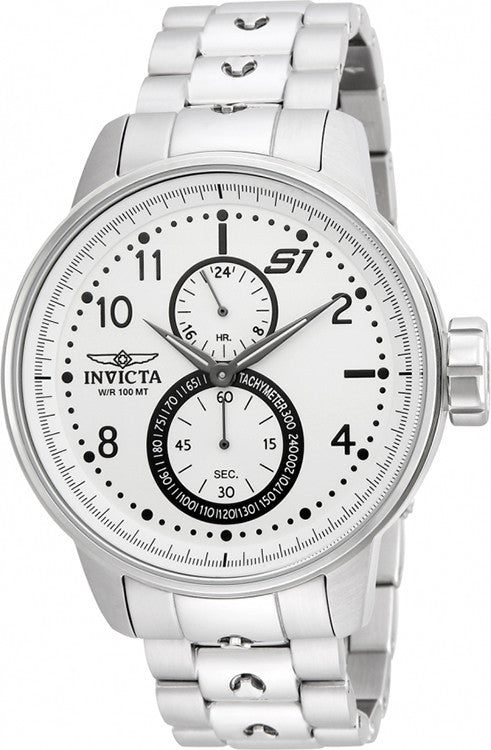 Invicta Men's S1 Rally Quartz Multifunction Silver Dial Watch  23059