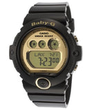 Casio Baby-G 200m Water Resistant Gold-Tone Dial Black Resin Watch BG6901-1D