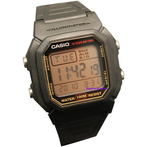 Casio Men's Digital Dual Time Alarm Snooze Watch W800HG-9