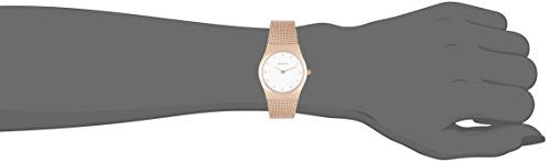 Bering Women's Milanaise Mesh Strap Rose Gold Tone Stainless Steel Watch 11927-366
