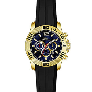 Invicta Men's Pro Diver Chronograph Tachymeter 100m Black Silicone Watch 20299