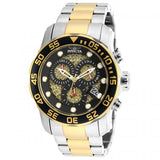 Invicta Men's Pro Diver Chronograph 300m Two Tone Stainless Steel Watch 19839