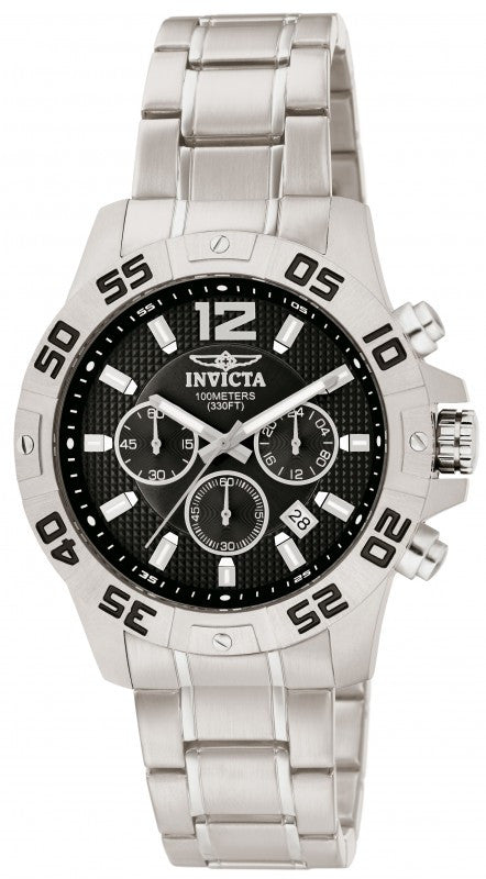 Invicta Men's Specialty Chronograph Analog Quartz Stainless Steel Watch 1501
