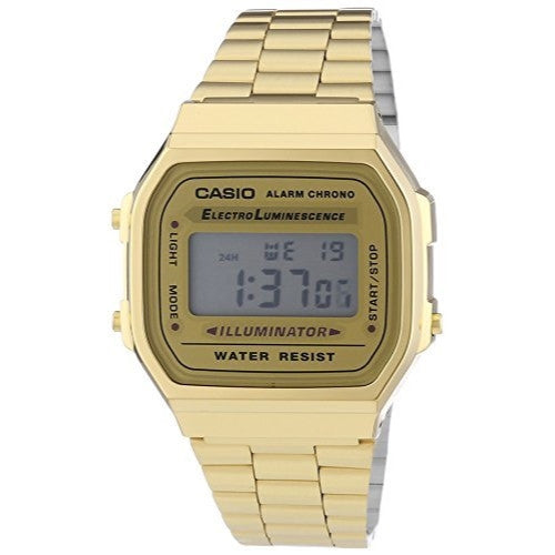 Casio Men's Digital Illuminator Gold Watch A168WG-9