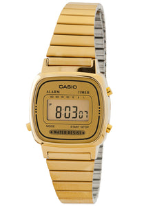 Casio Women's Gold-Tone Digital Watch LA670WGA-9