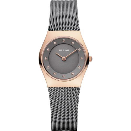 Bering Women's Classic Two Tone Stainless Steel Milanese Mesh Watch 11927-369