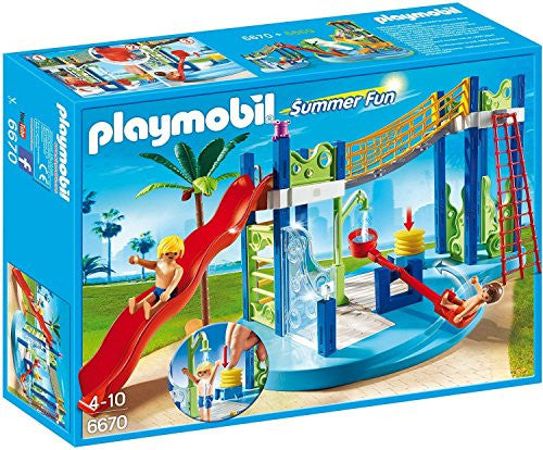 Playmobil Summer Fun Water Park Play Area 6670 (for Kids 4 to 10)