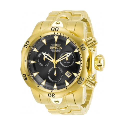 Invicta Men's Venom Quartz Chronograph Stainless Steel Gold Tone Watch 29644
