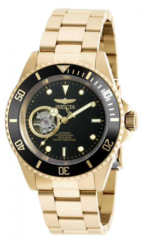 Invicta Men's Pro Diver Automatic 200m Gold Plated Stainless Steel Watch 20436