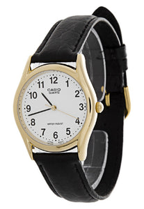 Casio Men's Casual Classic Analog Black Leather Watch MTP1094Q-7B1