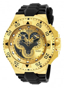 Invicta Men's Excursion Chrono Gold Plated Stainless Steel Silicone Watch 18557