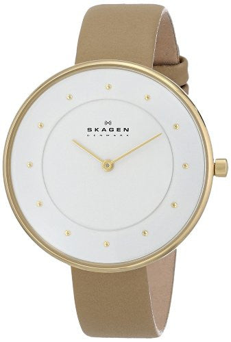 Skagen Women's SKW2137 Gitte Quartz 2 Hand Stainless Steel Light Brown Watch