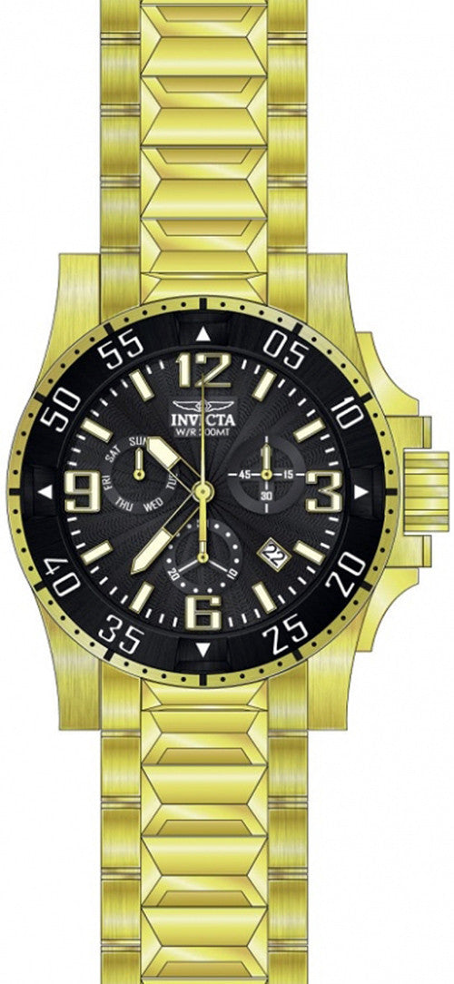Invicta Men's Excursion Chrono Quartz 200m Gold Tone Stainless Steel Watch 23903