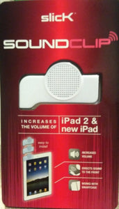 Slick Soundclip iPad Sound Enhancer White