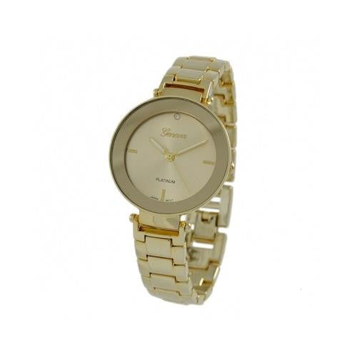 Geneva Platinum Women's Analog Quartz Gold Tone Stainless Steel Watch 4950