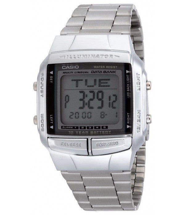 Casio Men's Illuminator Digital Databank Stainless Steel Watch DB360-1A