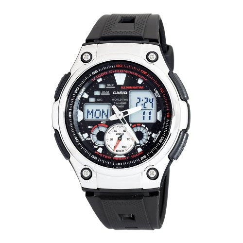 Casio Men's Multi-Task Gear Sports Black Resin Watch AQ190W-1A