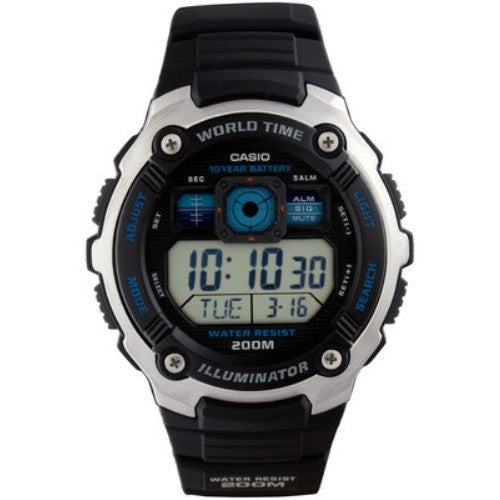 Casio Men's Sporty Digital Black Watch AE2000W-1AV