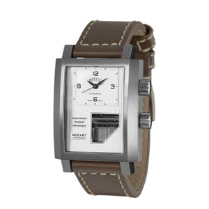 Boegli Men's Grand Festival Automatic Stainless Steel Brown Leather Watch M.731