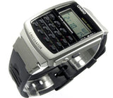 Casio Unisex 8-Digit Calculator Stopwatch Black Resin Watch CA56-1