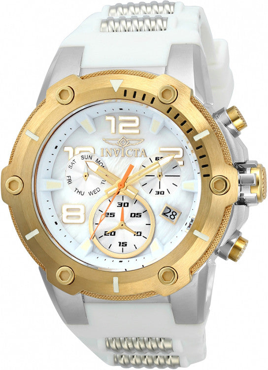 Invicta Men's Speedway Quartz Chronograph White Dial Watch  22512