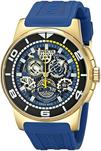 Invicta Men's Reserve Chronograph 100m  Stainless Steel and Silicone Watch 18948