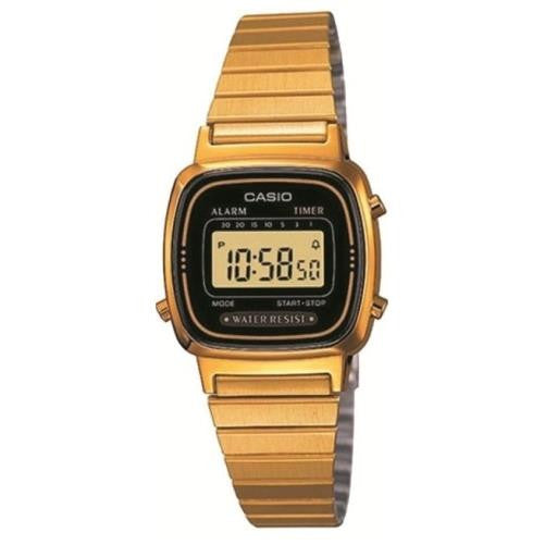 Casio Women's Classic Digital Gold Watch LA670WGA-1