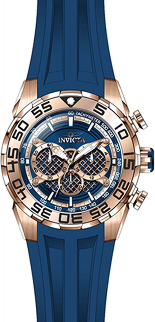 Invicta Men's Speedway Chrono 100m Stainless Steel/Blue Silicone Watch 26305