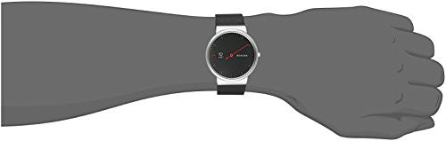 Skagen Men's Ancher Analog Quartz Black Leather Watch SKW6236