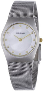 Bering Women's Swarovski Crystals Silver Tone Stainless Steel Watch 11927-004