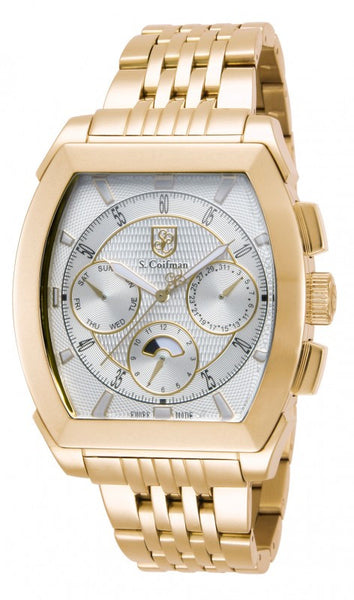 S. Coifman Men's Chronograph Quartz Gold Plated Stainless Steel Watch SC0095