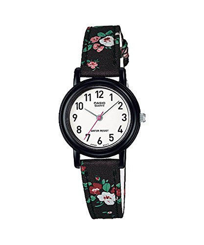 Casio Women's Leather/Fabric Black