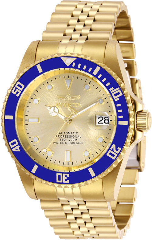 Invicta Men's Pro Diver Automatic 200m Gold Tone Stainless Steel Watch 29185