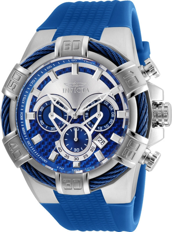 Invicta Men's Bolt Quartz Multifunction Silver Blue Dial Watch 24696