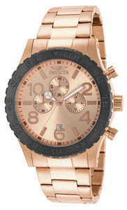 Invicta Men's Specialty Chronograph Rose Gold Plated Stainless Steel Watch 15161
