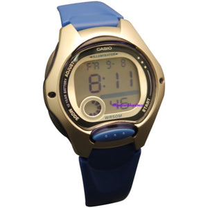 Casio Women's LW200-2AV Blue Resin Quartz Watch with Digital Dial