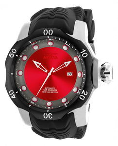 Invicta Men's Venom Automatic 1000m Stainless Steel Black Silicone Watch 19309
