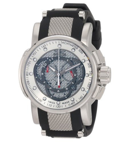 Invicta Men's S1 Rally Chronograph Stainless Steel Black Polyurethane Watch 0895