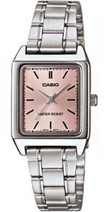 Casio Women's Analog Quartz Water Resistant Stainless Steel Watch LTPV007D-4E