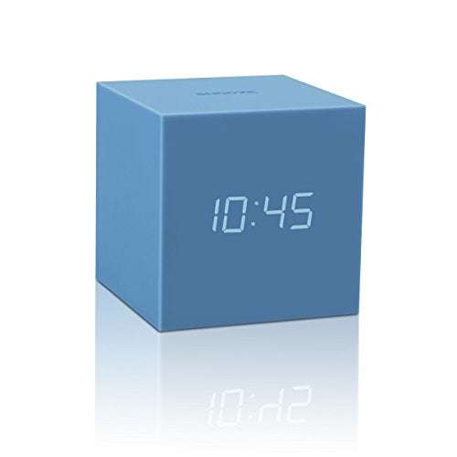 Gingko Gravity Cube Click Clock Blue 18SE