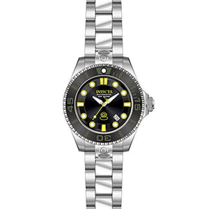 Invicta Men's Pro Diver Automatic 300m Black Dial Stainless Steel Watch 19797