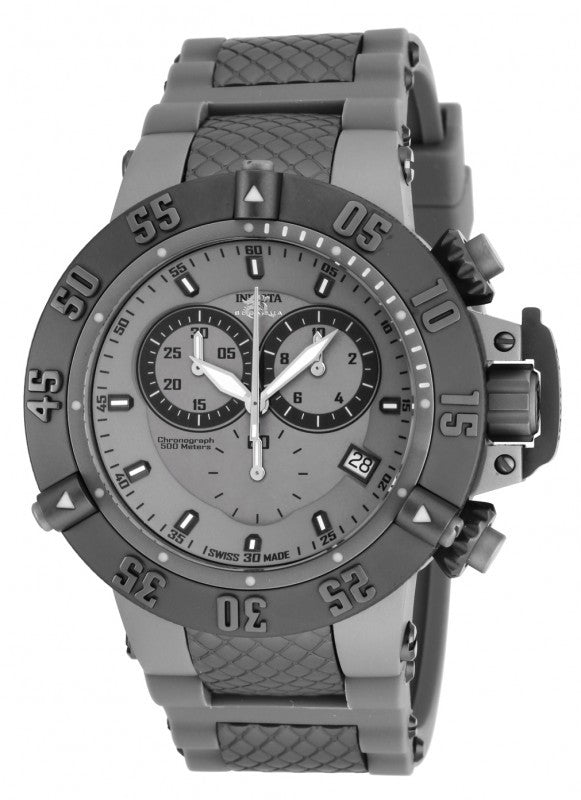 Invicta Men's Subaqua Chrono Titanium Stainless Steel Grey Silicone Watch 17214