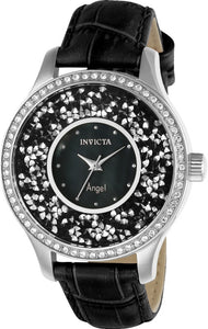 Invicta Women's Angel Quartz 3 Hand Black Dial Watch 24592