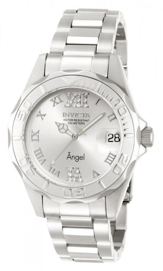 Invicta Women's Angel 200m Silver Tone Stainless Steel Watch 14396